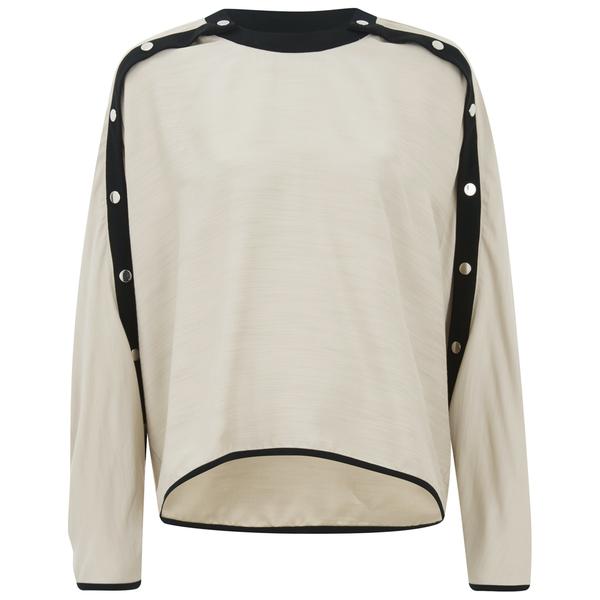 KENZO Women's Silk Blend Shantung Top - Ivory
