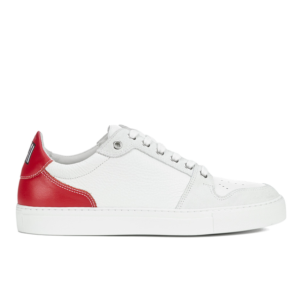 AMI Men's Low Top Trainers - White/ Red