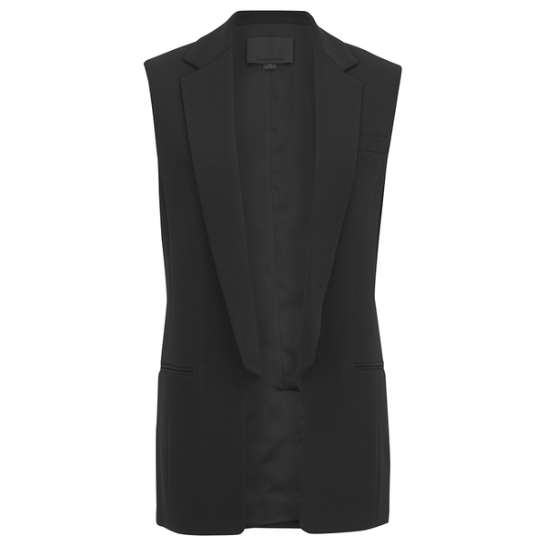 Alexander Wang Women's Straight Fit Vest with Cut Away Front - Onyx