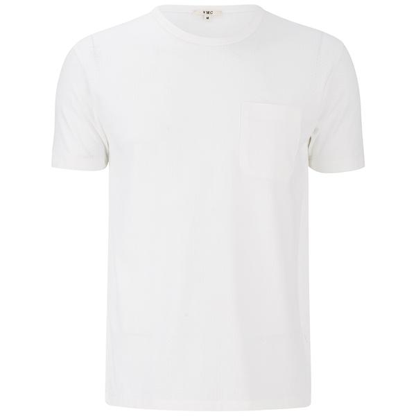 YMC Men's Perforated Pocket T-Shirt - White