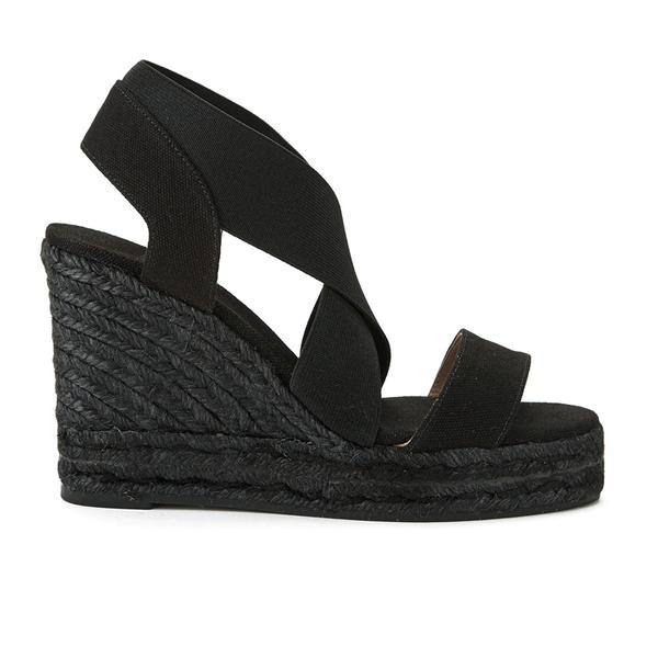 Castaner Women's Bernard Strappy Espadrille Wedged Sandals - Black