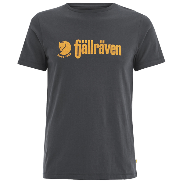 Fjallraven Men's Logo T-Shirt - Dark Navy/Ochre