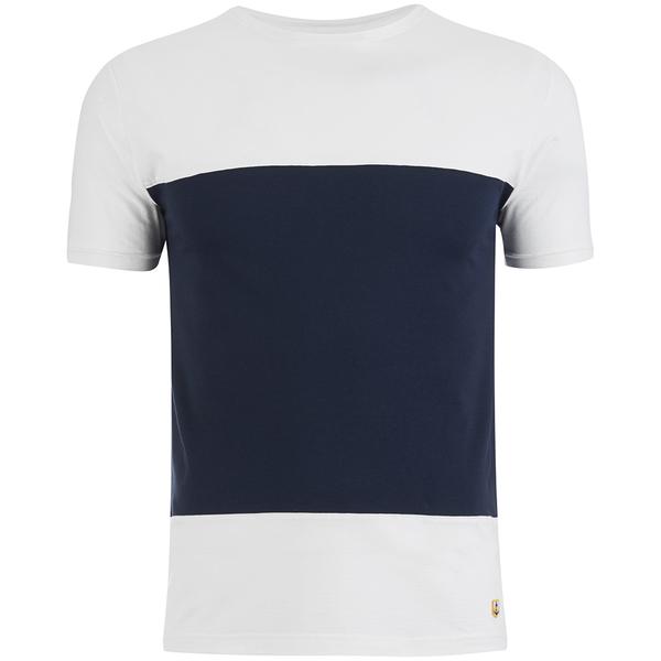 Armor Lux Men's Panelled T-Shirt - Milk/Navy