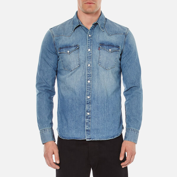 Levi's Men's Barstow Western Shirt - Red Cast Stone