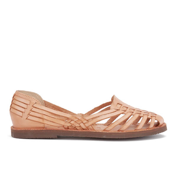 Chamula Women's D.F Slip-On Leather Sandals - Natural