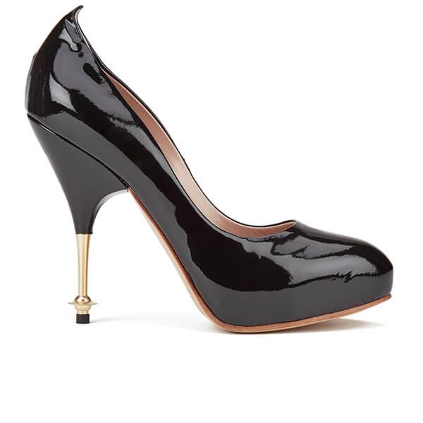Vivienne Westwood Women's Volupte Orb Heeled Shoes - Black Patent