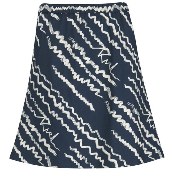 Karl Lagerfeld Women's Jacquard Scribble Skirt - Blue