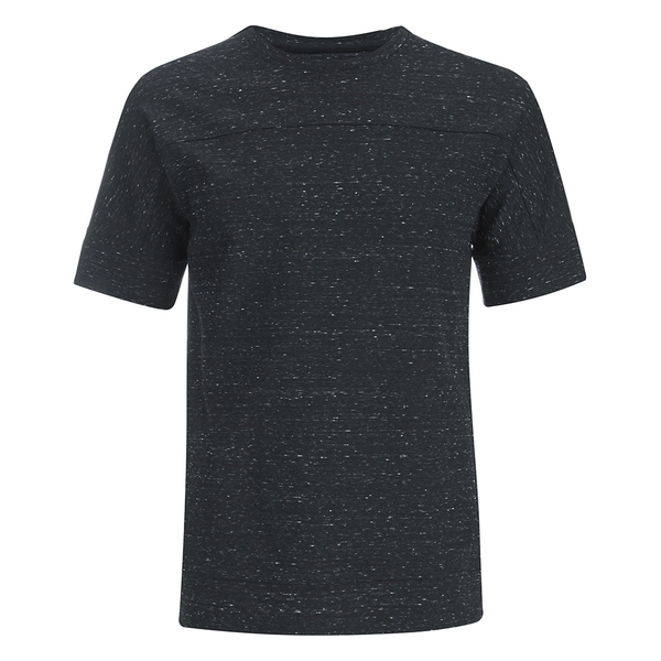 Helmut Lang Men's Tweed Ottoman Short Sleeved Sweatshirt - Black Heather