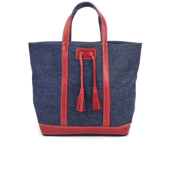 Vanessa Bruno Athe Women's Cabas Large Tote Bag - Denim/Red