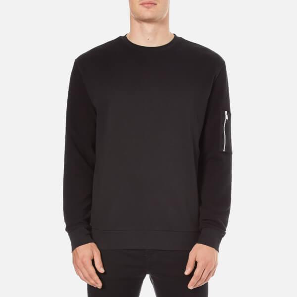 HUGO Men's Danremo Crew Neck Sweater - Black
