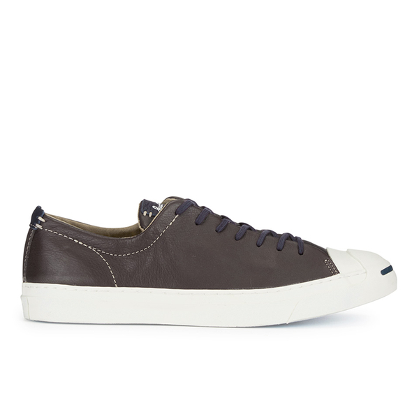 Converse Jack Purcell Men's WR Tumbled Leather Trainers - Burnt Umber/Egret