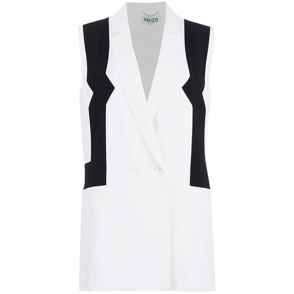 KENZO Women's Sleeveless Blazer - White