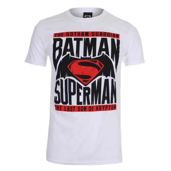 DC Comics Men's Batman v Superman Gotham Guardian T-Shirt - White