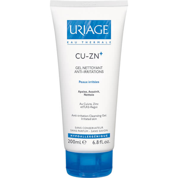Cleansing Gel Anti-irritation au Cuivre et au Zinc Uriage Cu-Zn+ (200ml)