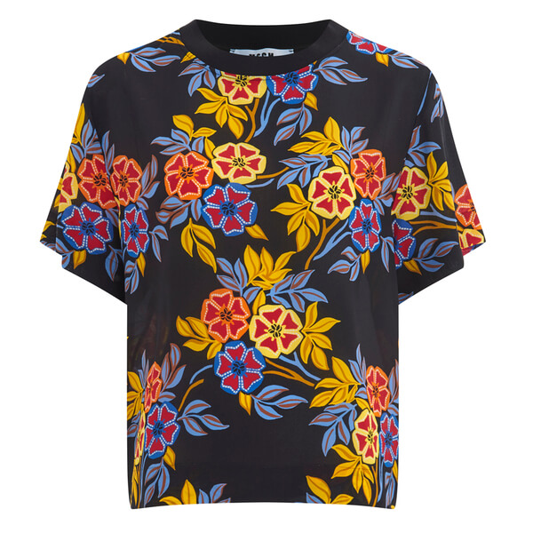 MSGM Women's Floral Top - Multi
