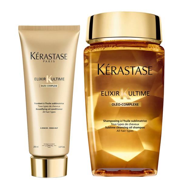 Kérastase Elixir Ultime Huile Lavante Bain Shampoo 250ml und Elixir Ultime Fondant Spülung 200ml Duo
