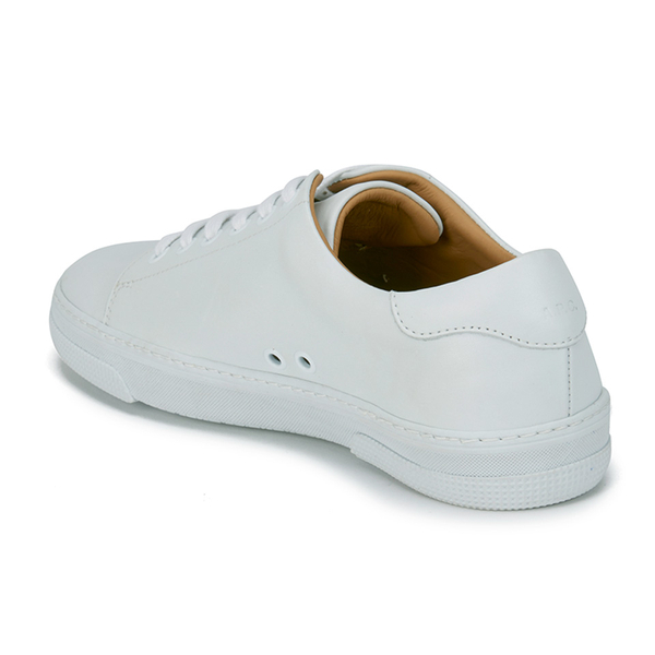 a p c s steffi leather tennis shoes white free