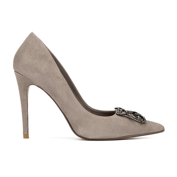 Dune Women's Breanna Suede Court Shoes - Mink