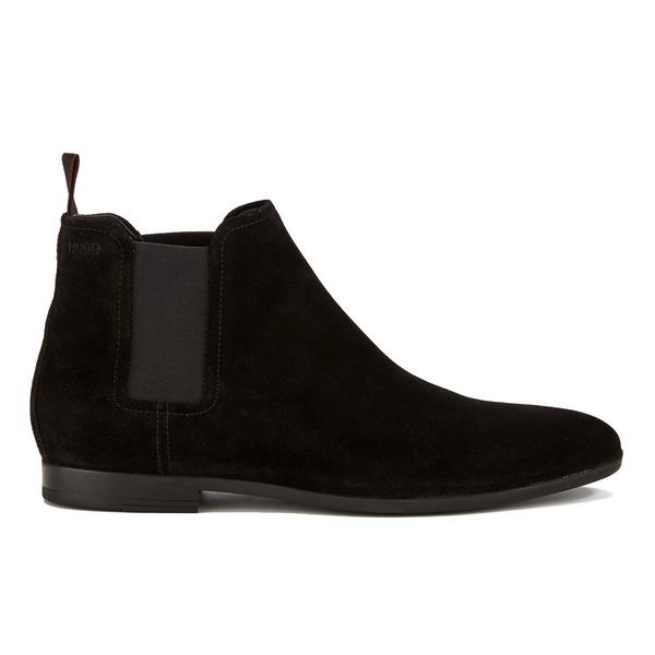 HUGO Men's Pariss Suede Chelsea Boots - Black