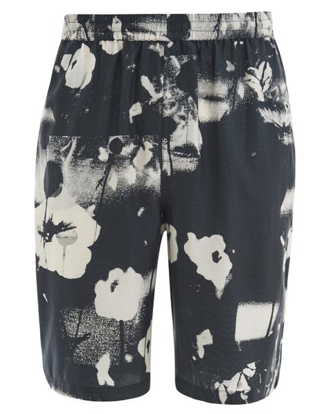 McQ Alexander McQueen Men's Elasticated Monochrome Shorts - Monochrome Floral