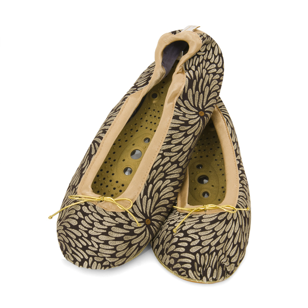 Zapatillas de Masaje de Holistic Silk- Negro- L