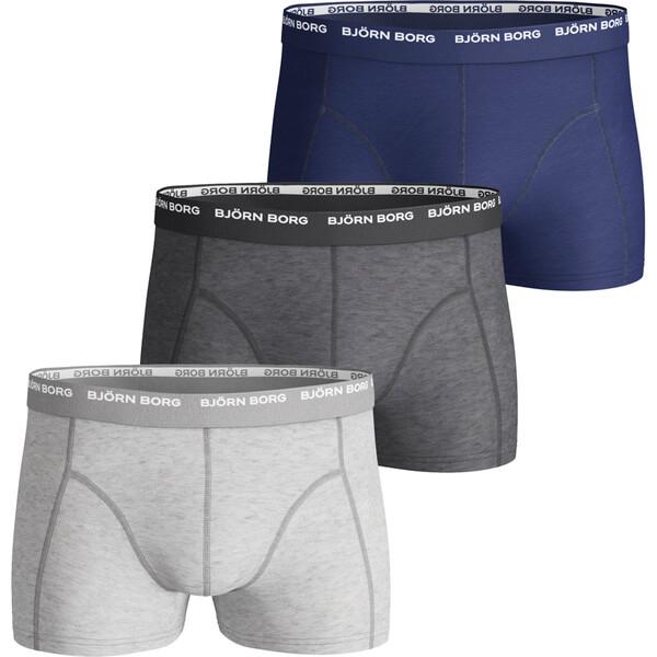 bjorn borg men 39 s 3 pack boxer shorts grey mens underwear. Black Bedroom Furniture Sets. Home Design Ideas