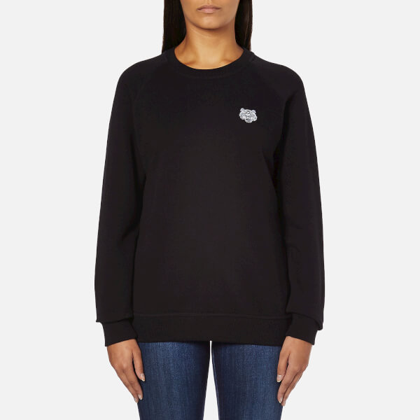 KENZO Women's Small Tiger Logo Sweatshirt - Black