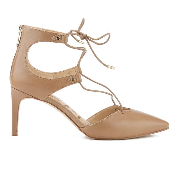 Sam Edelman Women's Taylor Leather Lace Up Court Shoes - Golden Caramel