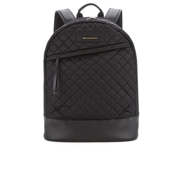 WANT LES ESSENTIELS Men's Kastrup 15' Backpack - Black Quilt/Black
