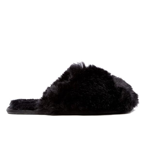 Ted Baker Women's Hawleth Faux Fur Slippers - Black