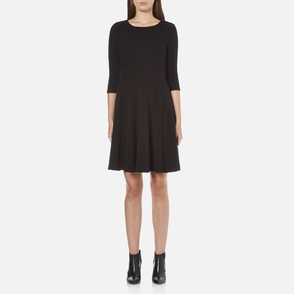 BOSS Orange Women's Dipleat Jersey Dress - Black