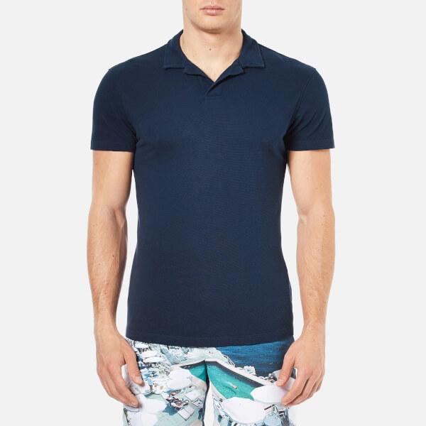 Orlebar Brown Men's Massey Airtex Polo Shirt - Navy