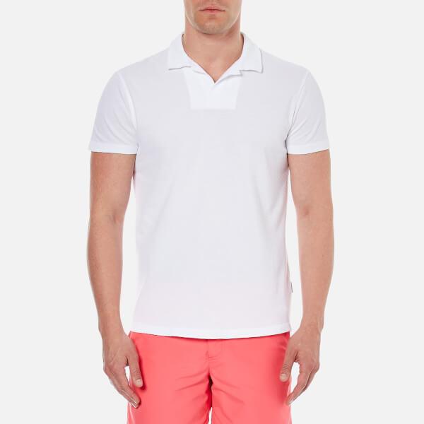 Orlebar Brown Men's Massey Airtex Polo Shirt - White