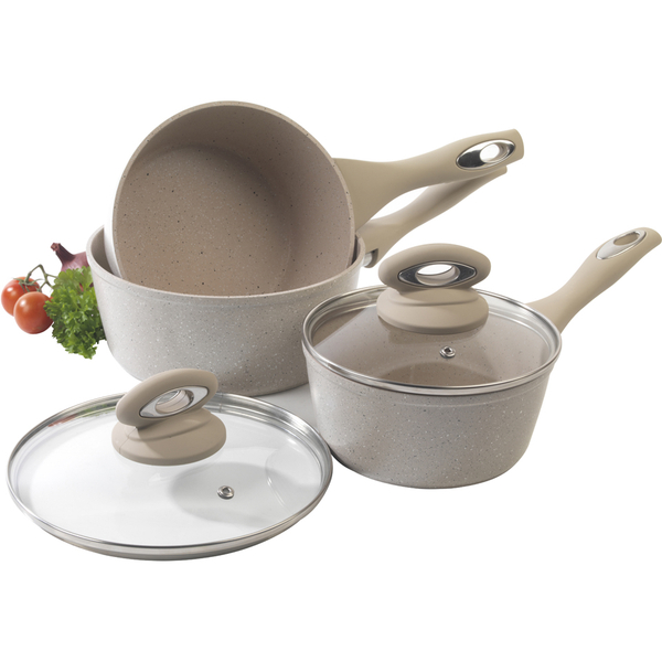 Salter Marble Collection 3 Piece Pan Set Sand Iwoot