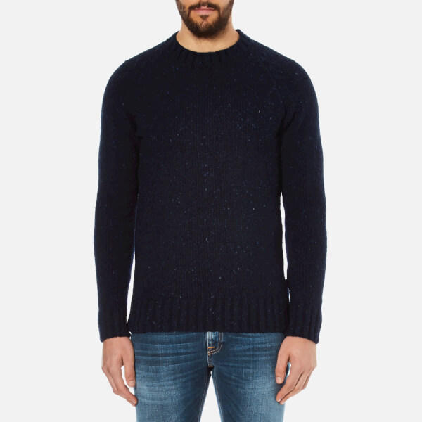 Barbour Heritage Men's Netherby Crew Neck Knitted Jumper - Navy