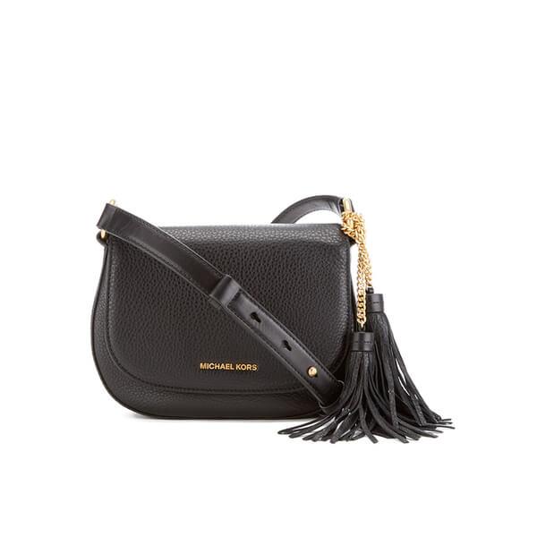 MICHAEL MICHAEL KORS Elyse Tassle Saddle Bag - Black