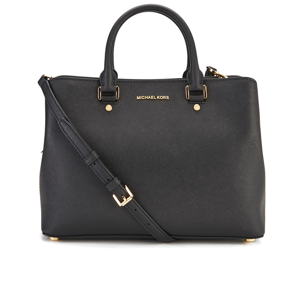 michael michael kors savannah satchel black free uk delivery over 50. Black Bedroom Furniture Sets. Home Design Ideas