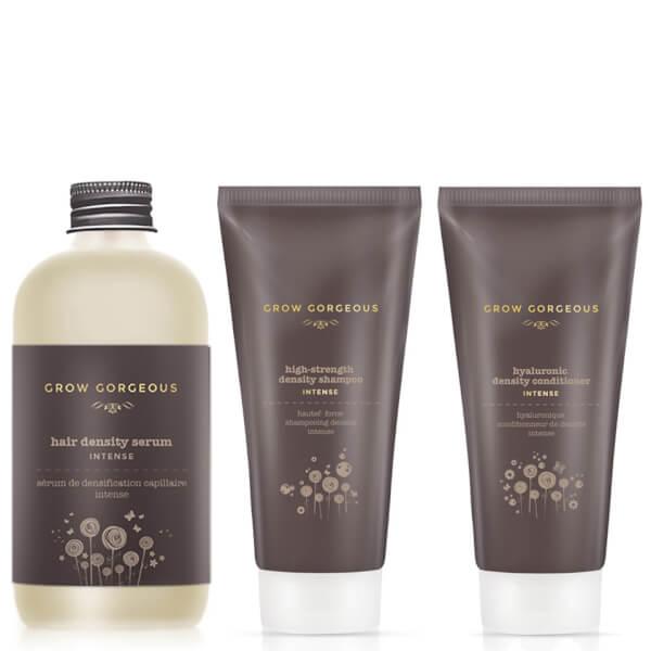 Grow Gorgeous Hair Density Serum Intense, Density Shampoo Intense and Hyaluronic Density Conditioner