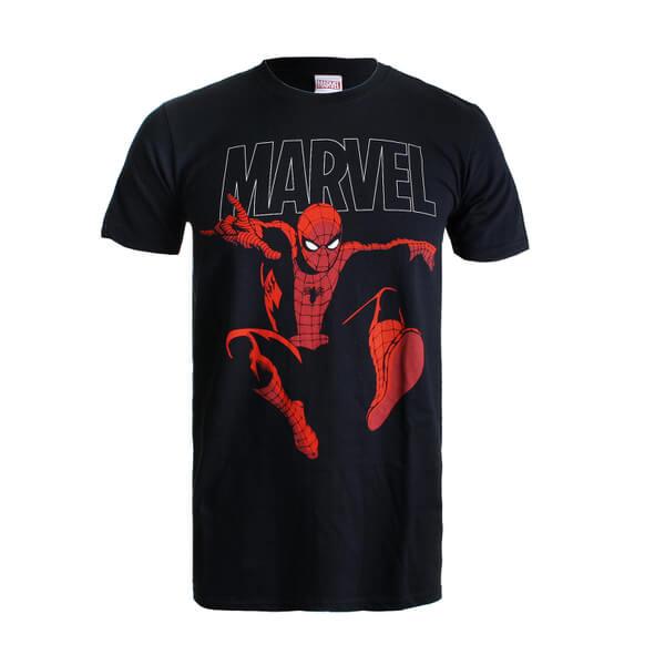 Marvel Spider Strike Men's T-Shirt - Black