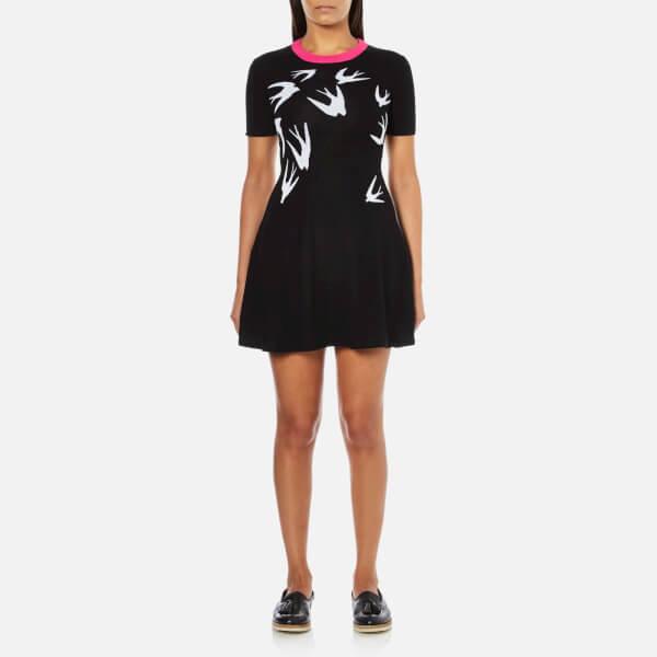 McQ Alexander McQueen Women's Swallow Skater Dress - Black/White
