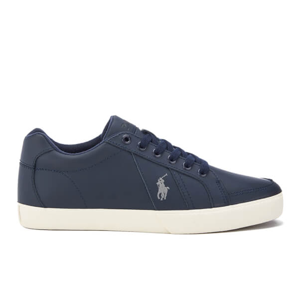 Polo Ralph Lauren Men's Hugh Leather Trainers - Newport Navy