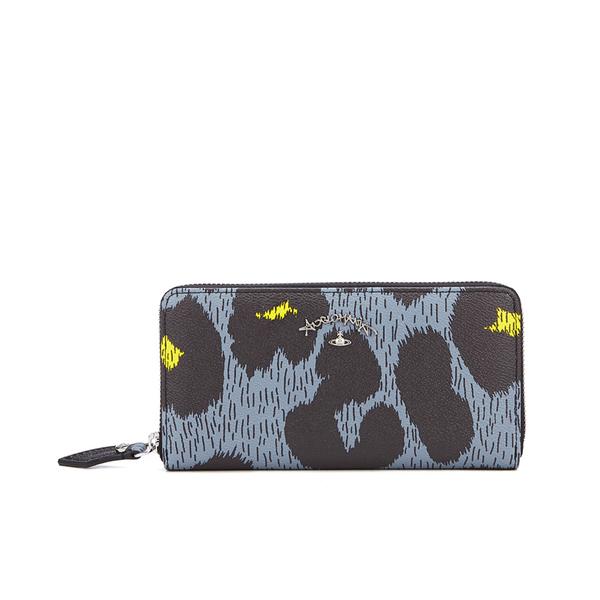 Vivienne Westwood Leopardmania Women's Zip Around Wallet - Grey