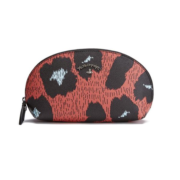 Vivienne Westwood Leopardmania Women's Make Up Bag - Orange