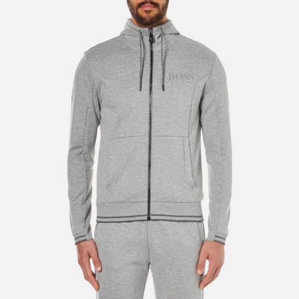 BOSS Green Men's Saggy Zipped Hoody - Grey