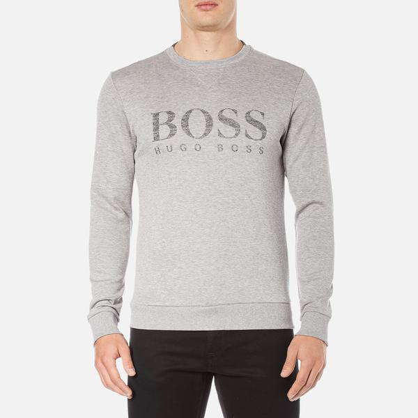 BOSS Green Men's Salbo Logo Sweatshirt - Grey