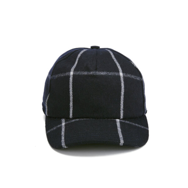 A.P.C. Men's Classic Checked Cap - Dark Navy