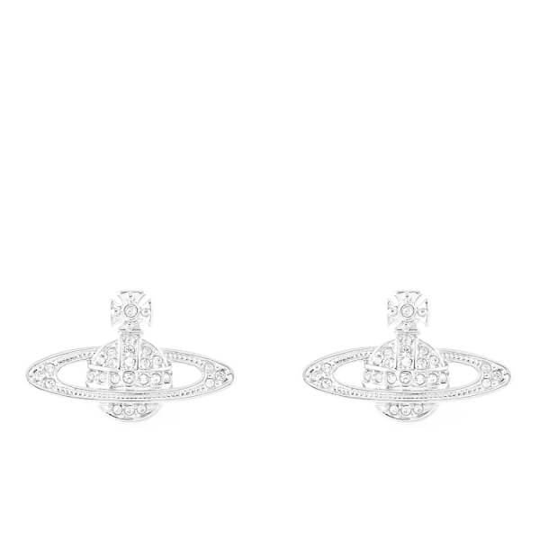 Vivienne Westwood Jewellery Women's Mini Bas Relief Pierced Earrings - Silver