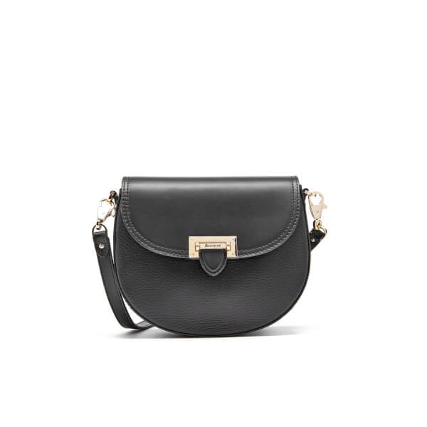 Aspinal of London Women's Portobello Mini Saddle Bag - Black
