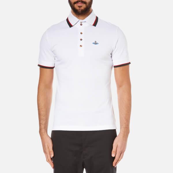Vivienne Westwood MAN Men's Classic Pique Short Sleeve Polo Shirt - White
