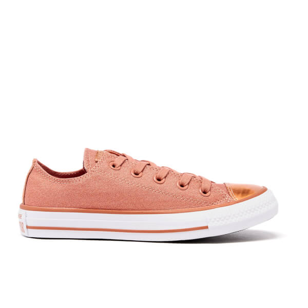 Converse Women's Chuck Taylor All Star Brush Off Toecap OX Trainers - Pink
